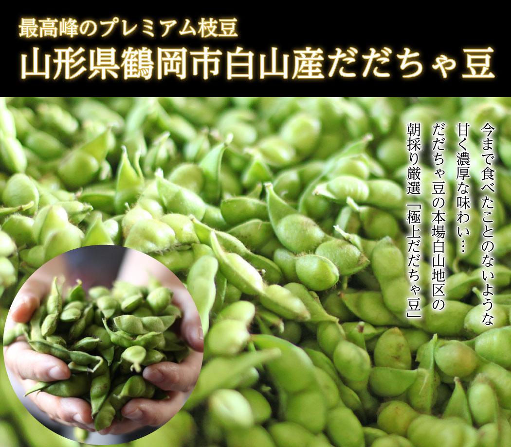 山形県鶴岡産だだちゃ豆最高峰のプレミアム枝豆