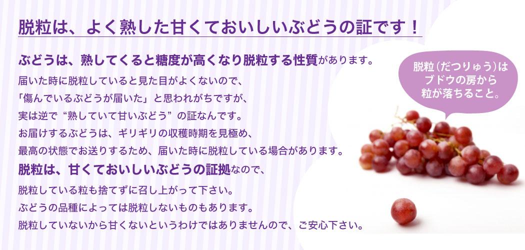 葡萄の脱粒
