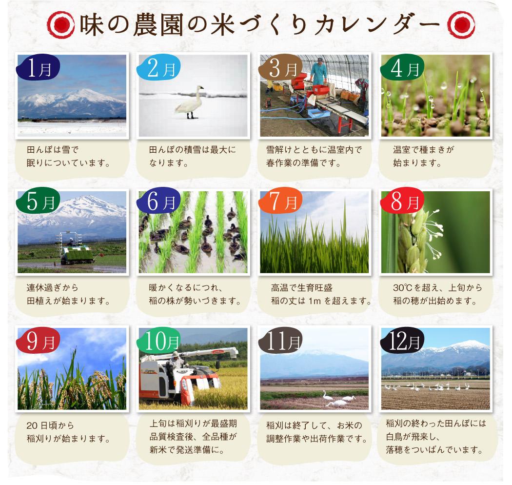 味の農園の米作りカレンダー