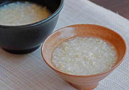 玄米がゆ 玄米食 玄米