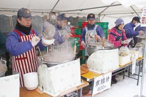 芋煮会 寒だら鍋 山形蕎麦